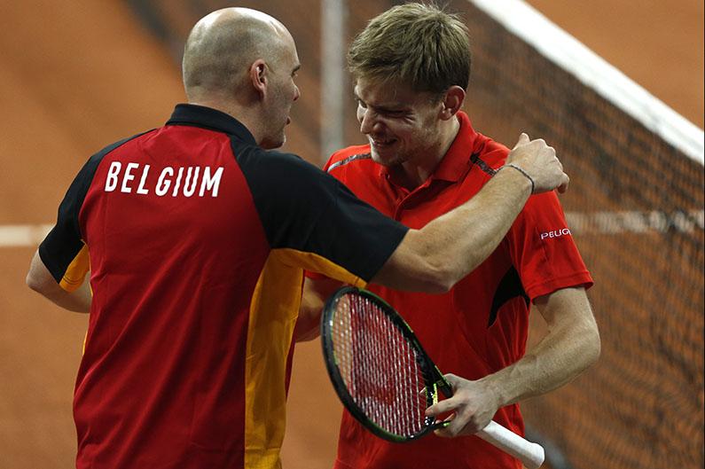 David Goffin en Johan Van Herck - © Philippe Buissin/ IMAGELLAN