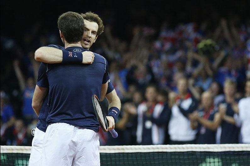 Andy en Jamie Murray - © Philippe Buissin/ IMAGELLAN