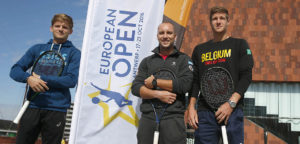 David Goffin, Steve Darcis en Joris De Loore - © European Open