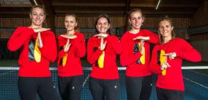 Belgische Fed Cup-ploeg - © Walter Saenen (Tennis Vlaanderen)