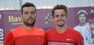 Romain Barbosa en Clément Geens - © Clément Geens Tennis Player (Facebook)