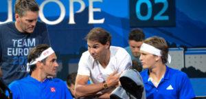 Roger Federer, Alexander Zverev en Rafael Nadal - © Christopher Levy (www.flickr.com)