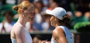 Alison Van Uytvanck en Ashleigh Barty - © Jimmie48 Tennis Photography