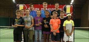 Ceremonie met laureaten op Belgisch Kampioenschap Junioren in 2016 in Leuven- - © Philippe Buissin (IMAGELLAN)