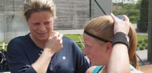 Kim Clijsters en Lara Salden - © Fotoplaza