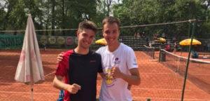 Maikel De Boes en Noah Martens - © Wilson Tennis Academy Genk (Facebook)