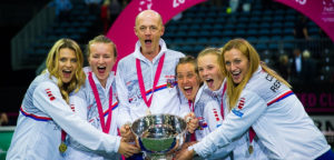 Tsjechische Fed Cupploeg met trofee Fed Cup © Jimmie48 Tennis Photography
