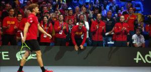 David Goffin en Belgische Davis Cupteamgenoten - © IMAGELLAN