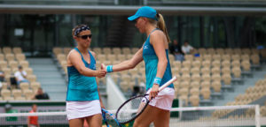 Kirsten Flipkens en Johanna Larsson - © Jimmie48 Tennis Photography