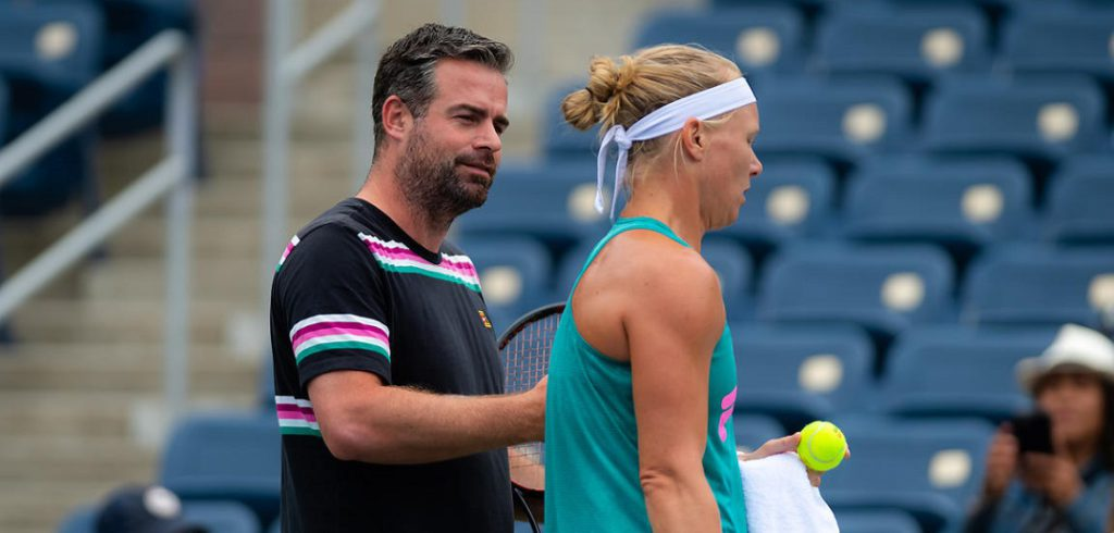 Kiki Bertens en Raemon Sluiter - © Jimmie48 Tennis Photography