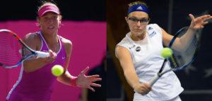 Yanina Wickmayer en Kirsten Flipkens - © Jimmie48 Tennis Photography en Tatiana Kulikova