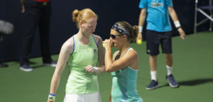 Alison Van Uytvanck en Kirsten Flipkens - © Christophe Moons (Tennisplaza)