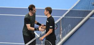 Andy Murray en Kimmer Coppejans - © European Open