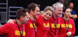 Belgische Fed Cup-ploeg en Kim Clijsters - © Richard Van Loon (toptennis.photos)