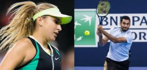 Belinda Bencic en Nick Kyrgios - © Jimmie48 Tennis Photography
