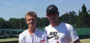 Arnaud Bovy en coach Valentin De Jaeger - © Facebook (Bovy Family Sports)