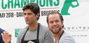 Mark Philippoussis en Xavier Malisse - © Thomas Zwijsen