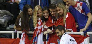 Marin Cilic met Kroatische Fans - © Philippe Buissin/ IMAGELLAN