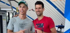 Cristiano Ronaldo en Novak Djokovic - © Cristiano Ronaldo (Instagram)