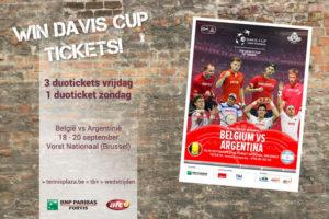 Tennisplaza België wedstrijd 4 duotickets Davis Cup België - Argentinië