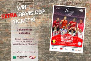Tennisplaza België wedstrijd 3 extra duotickets Davis Cup België - Argentinië