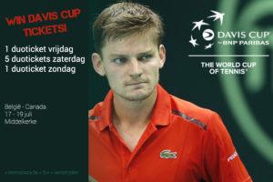 Tennisplaza België wedstrijd 7 duotickets Davis Cup België - Canada