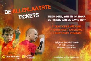 Tennisplaza België wedstrijd 3 duotickets Davis Cup-finale België - Groot-Brittannië