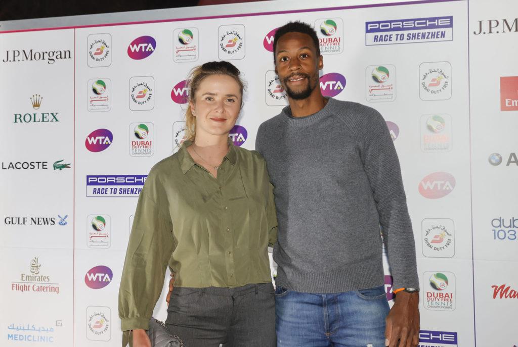 Elina Svitolina en Gaël Monfils - © Dubai Duty Free Tennis Championships