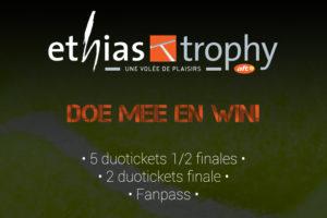 Tennisplaza België wedstrijd Ethias Trophy 2014
