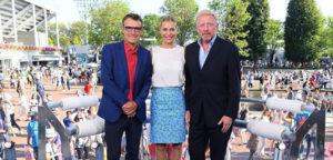 Mats Wilander, Barbara Schett en Boris Becker - © Eurosport