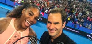 Serena Williams en Roger Federer - © Roger Federer (Twitter)
