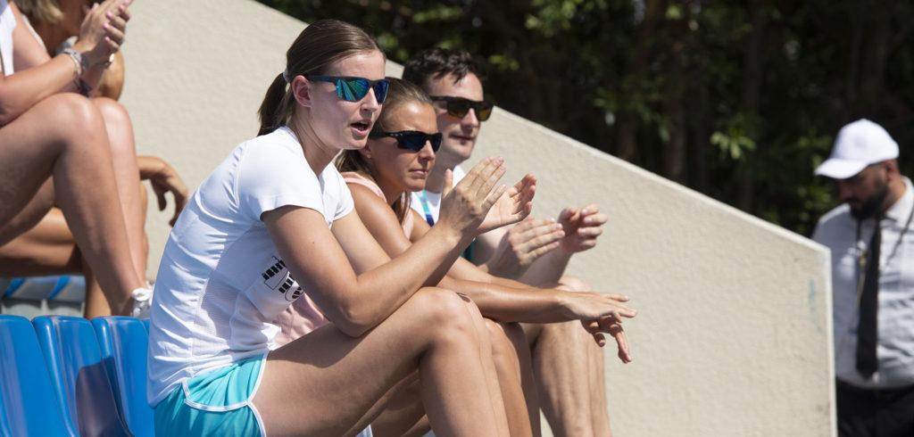 Greet Minnen, Kirsten Flipkens en Michiel Antheunis - © Christophe Moons (Tennisplaza)
