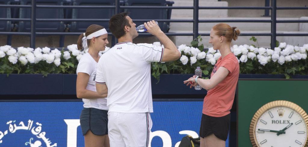 Greet Minnen, Alison Van Uytvanck en Michiel Antheunis - © Christophe Moons (Tennisplaza)