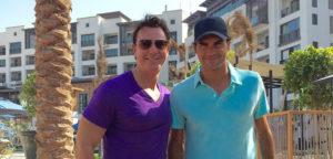 Guy Penders en Roger Federer - © Guy Penders