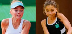 Madelief Hageman en Sofia Costoulas - © Richard van Loon (tennisfoto.net)