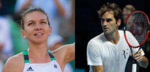 Simona Halep en Roger Federer - © Jimmie48 Tennis Photography