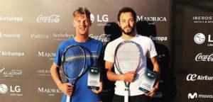 Jeroen Vanneste en Laurent Lokoli - © Tennis Vlaanderen