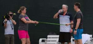 Kim Clijsters en Fred Hemmes - © Jimmie48 Tennis Photography
