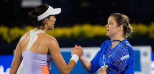 Garbiñe Muguruza en Kim Clijsters - © Jimmie48 Tennis Photography