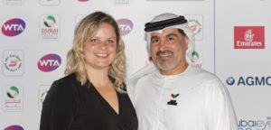 Kim Clijsters en Salah Tahlak - © Dubai Duty Free Tennis Championships