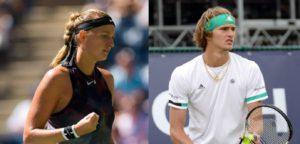 Petra Kvitova en Alexander Zverev - © Melissa Van De Wiele en Jimmie48 Tennis