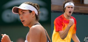 Garbiñe Muguruza en Alexander Zverev © Jimmie48 Tennis Photography & Melissa Van de Wiele