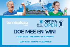Tennisplaza België wedstrijd duotickets Optima Open 2014