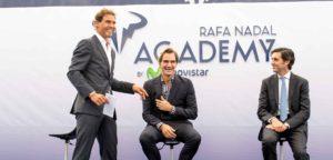 Rafael Nadal en Roger Federer - © Rafa Nadal Academy (Twitter)
