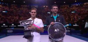 Roger Federer en Marin Cilic - © YouTube Australian Open