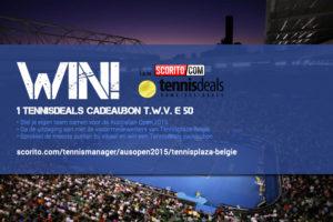 Tennisplaza België wedstrijd 1 Tennisdeals cadeaubon (Australien Open 2015)