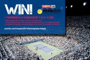Tennisplaza België wedstrijd 1 Tennisdeals cadeaubon (US Open 2014)