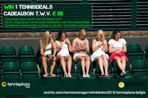 Tennisplaza België wedstrijd 1 Tennisdeals cadeaubon (Wimbledon 2015)
