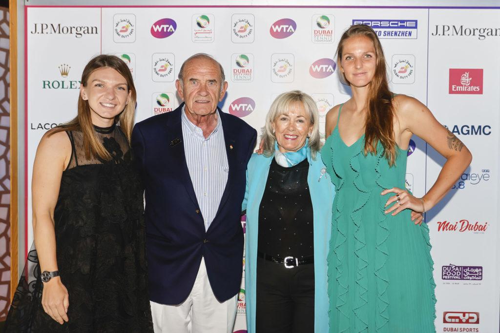 Simona Halep en Karolina Pliskova - © Dubai Duty Free Tennis Championships
