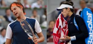 Dominic Thiem en Garbiñe Muguruza - © Jimmie48 Tennis Photography
